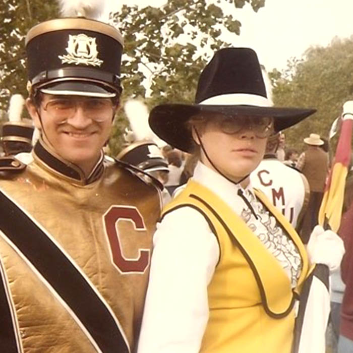 Marcie Wolf CMU Marching Band